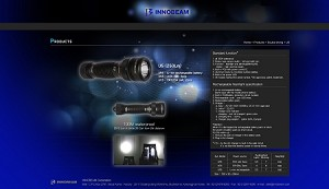 PIS-INNOBEAM UNDERWATER FLASHLIGHT