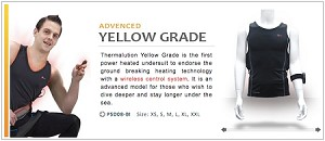 Thermalution Underwater Vest - Yellow Grade with 2.2AH Batteries and Wireless Controller (in CANADIAN dollars)